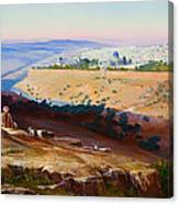 Jerusalem From The Mount Of Olives Canvas Print