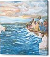 Jesus Walking On Water Canvas Print