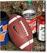 Jim Beam Coke And Football Canvas Print