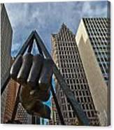 Joe Louis Fist In Detroit  Canvas Print
