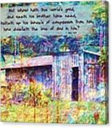 1 John 3 17 Canvas Print