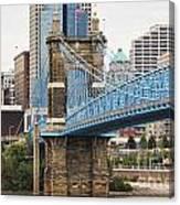John Roebling Bridge 1867 Canvas Print