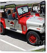 Jurassic Park Jeeps Canvas Print
