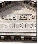 Jus Est Ars Boni Et Aequi Canvas Print