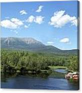 Katahdin From Abol Bridge Canvas Print