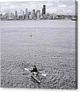 Kayaking Elliot Bay Canvas Print
