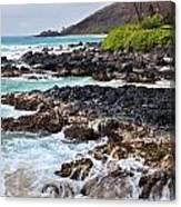 Keanae Lava Rock Canvas Print