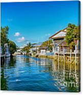 Key Largo Canal 3 Canvas Print