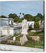 Key West Cemetery Canvas Print