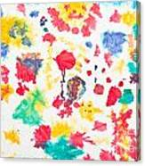 Kid's Artwork Colorful Background Canvas Print