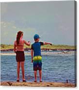 Kids Exploring Canvas Print