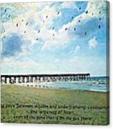 1 Kings 4 29 Pier Canvas Print