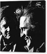 Kirk Douglas Laughing Johnny Cash Old Tucson Arizona 1971 Canvas Print
