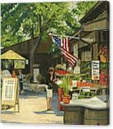 Kirkwood Farmers Market American Flag Canvas Print