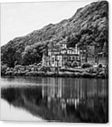 Kylemore Abbey Reflected In The Lake Connemara Galway Ireland Canvas Print