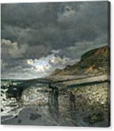La Pointe De La Heve At Low Tide Canvas Print