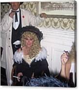 Lady And Gent Homage Celebrants Crystal Palace Saloon Tombstone Arizona 1932-2004 Canvas Print