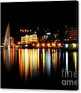 Lake At Night Canvas Print