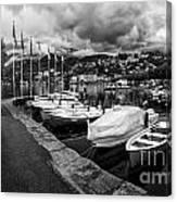 Lake Maggiore Bw Canvas Print