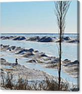 Lake Michigan Ice Canvas Print