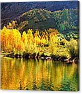 Lake Reflection In Fall  Canvas Print