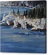 Lake Superior Ice Storm Canvas Print