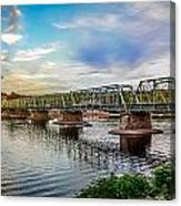 Lambertville From The Shores Of New Hope Canvas Print