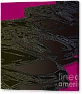 Black Magenta Bull Canvas Print