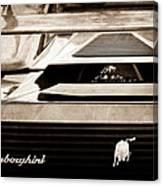 Lamborghini Rear View Emblem Canvas Print