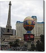 Las Vegas - Paris Casino - 12123 Canvas Print