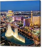 Las Vegas Skyline  At Dusk Canvas Print