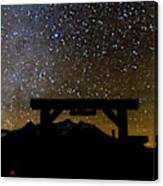 Last Dollar Gate And Milky Way Starry Canvas Print