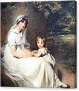 Lawrence's Lady Mary Templetown And Her Eldest Son Canvas Print