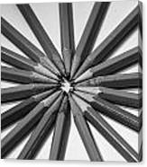 Lead Pencils Isolated On White Canvas Print