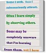 Learning Observation Teacher Student Gratitude Background Designs  And Color Tones N Color Shades Av Canvas Print