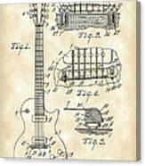 Les Paul Guitar Patent 1953 - Vintage Canvas Print