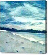 Lido Beach Evening Canvas Print