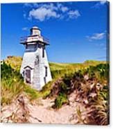 Lighthouse On The Dunes Canvas Print