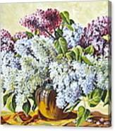 Lilac Flowers Canvas Print