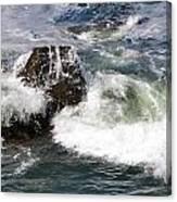 Linda Mar Beach Surf Canvas Print