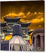 Liverpool Landmarks Montage Canvas Print