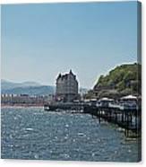 Llandudno Pier In Wales Uk On A Bright Sunny Day Canvas Print