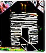 Log Cabin Home Canvas Print