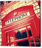 London Phone Booth Canvas Print