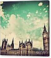 London Uk Big Ben The Palace Of Westminster Canvas Print