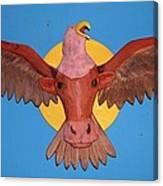 Longhorn Eagle Canvas Print
