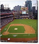 Los Angeles Dodgers V. San Diego Padres Canvas Print