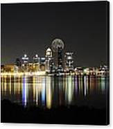 Louisville With The Moon Canvas Print