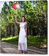 Love Heart Balloons  Canvas Print
