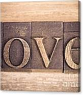 Love In Printing Blocks Canvas Print